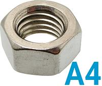 Гайка шестигранная М12 нержавеющая сталь А4