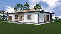 MS-029 Проект просторного одноэтажного дома с гаражом