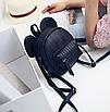 Рюкзак женский мини Mikki кожзам однотонный Черный, фото 2