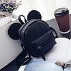 Рюкзак женский мини Mikki кожзам однотонный Черный, фото 3