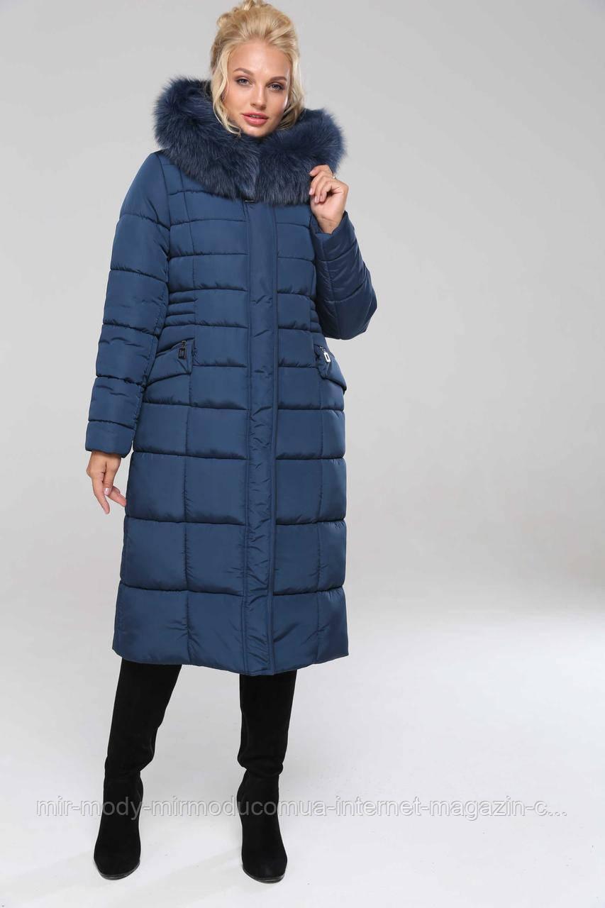 Пальто Сангрия 2-песец  изумруд с 48 по 64 размер(вр)
