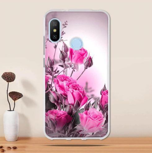 Бампер силіконовий чохол для Huawei P Smart plus з картинкою Рожеві троянди