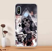 Бампер силиконовый чехол для Huawei P Smart plus с картинкой Скелет
