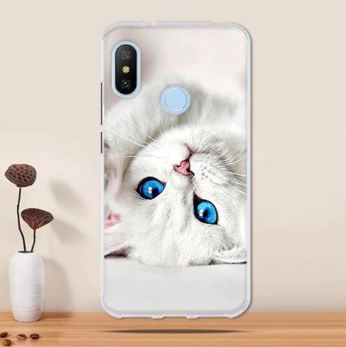 Бампер силіконовий чохол для Huawei P Smart plus з картинкою Білий котик