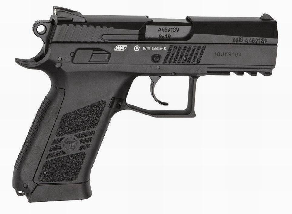 Пистолет пневматический ASG CZ 75 Р-07 Blowback, 4,5 мм