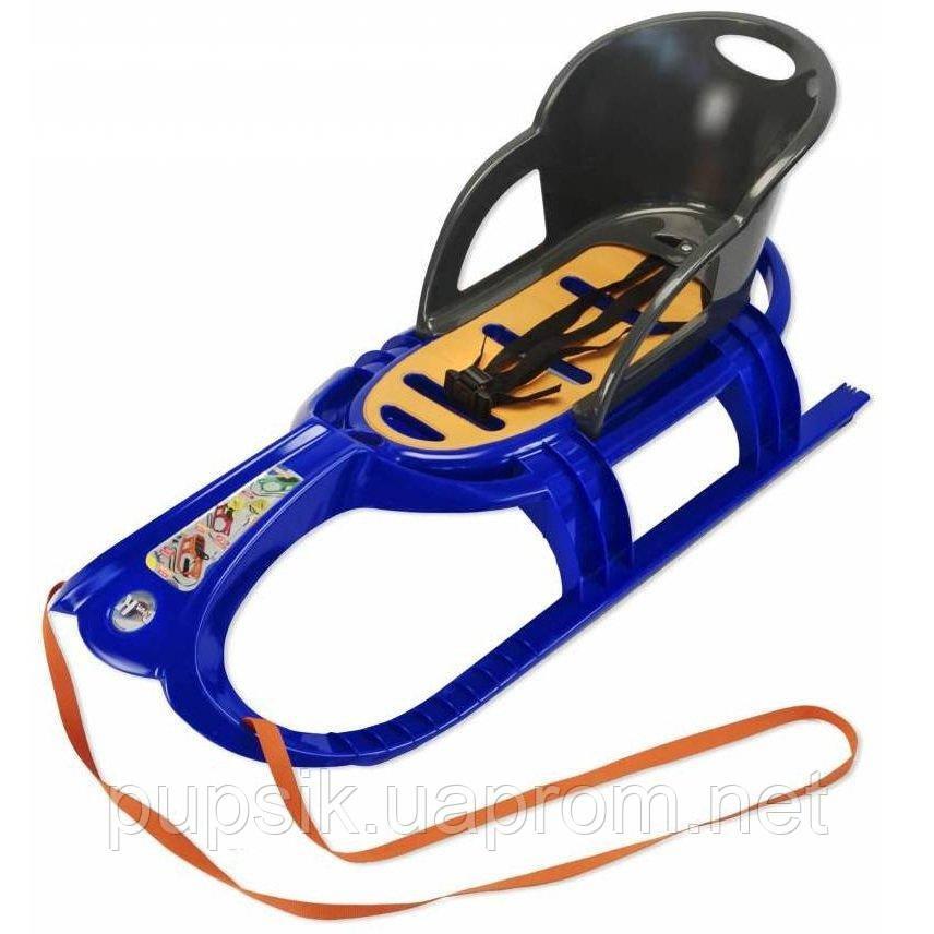 Санки со спинкой Snow Tiger comfort KHW (синие)