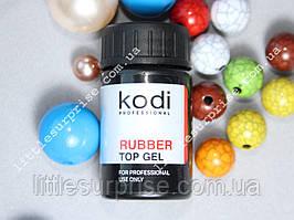 Rubber Top (Каучуковое верхнее покрытие для гель лака) Kodi Professional, 14мл