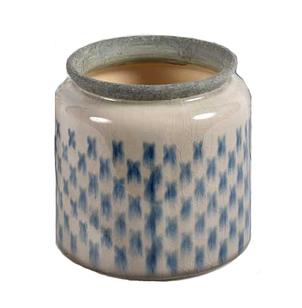 Кашпо горшок для цветов декоративный керамический серый