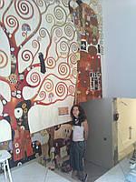 Интерьерная роспись на стене. Ручная работа