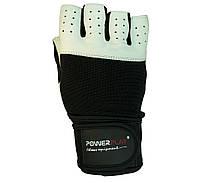 Рукавички для залу PowerPlay 1069 Чорно-білі, фото 1