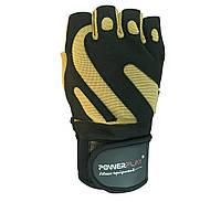 Рукавички для залу PowerPlay 1064 F Чорно-жовті, фото 1