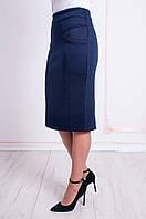 Женская теплая трикотажная юбка.Размеры 48 - 58, фото 1