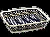 Керамическая форма для выпечки и запекания прямоугольная с волнистым краем 25 х 20 Вишенка