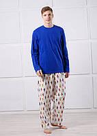 Пижама мужская трикотажная синяя