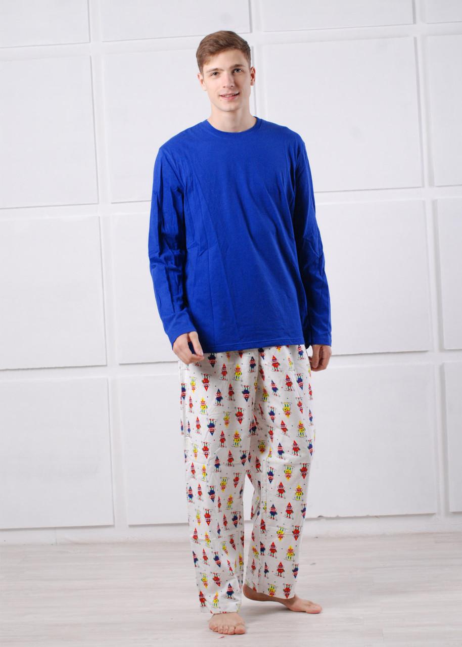 3a569b69e8216 Пижама мужская трикотажная синяя, цена 560 грн., купить в Киеве ...