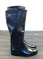 Кожаные зимние женские сапоги низкий ход Fabio Monelli