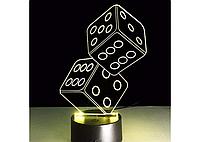 3D светильник  Кости