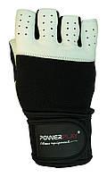 Рукавички для залу PowerPlay 1069 Чорно-білі M, фото 1