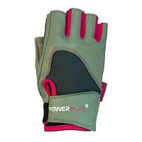 Фітнес рукавички PowerPlay 1747 Сірий S