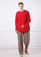 Пижама мужская трикотажная красная