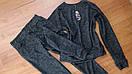 Демисезонный спортивный костюм женский ангора софт на весну весенний Л-ка черный, фото 2