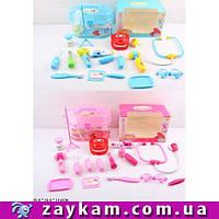 Доктор Стоматолог 526A-21 2 види,щелепу,шприц,крапельниця,окуляри, валіза,в кор.251614