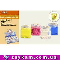Лизун M02982, микс видов, единороги в цветной слизи 6*6*6 см