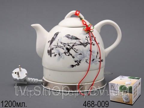 Электрический керамический чайник SINBOL 486-009 птицы на ветке