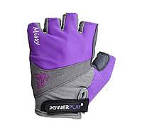 Велорукавички PowerPlay 5277 А Фіолетовий, фото 1