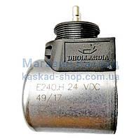 Электромагнитная катушка клапана (E0240.H) с разъёмом 24В HYDAC, 40 мм, резьба М24, внутренний диаметр 18 мм