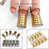 """Протекторы для ногтей - """"Gold Protector"""" - 10 шт., фото 1"""
