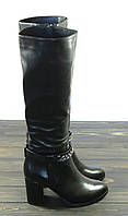 Зимние женские сапоги на каблуке Fabio Monelli кожаные, фото 1