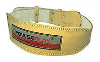 Пояс атлетичний PowerPlay 5084 Тілесний [натуральна шкіра] XL