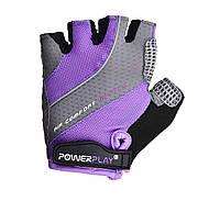 Велорукавички PowerPlay 5023 A Фіолетовий S