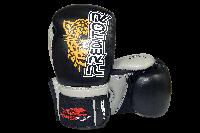 Боксерські рукавиці PowerPlay 3008 Чорні PU 14 oz, фото 1