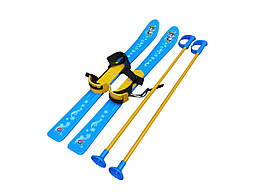 Лыжи с палками детские 78 х 14 х 12 см