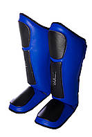 Захист гомілки і стопи PowerPlay 3032 Блакитний [натуральна шкіра+PU] M