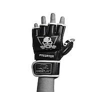 Рукавиці для MMA PowerPlay 3056 А Чорні PU L, фото 1