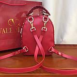 Рюкзак Валентино Garavani Rockstud Spike, кожаный, цвет гранатовый, фото 2