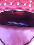 Рюкзак Валентино Garavani Rockstud Spike, кожаный, цвет гранатовый, фото 6