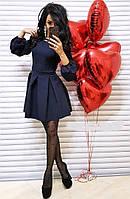 Платье женское стильное норма 42 - 46 рр креп-дайвинг