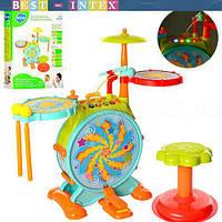 Детская Барабанная установка 666 (3АА) звук, свет, песни, фото 1