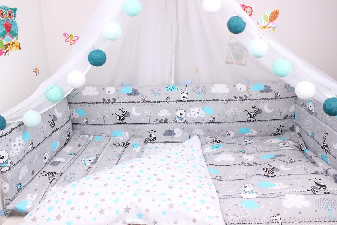 Тонкие бортики защита в кроватку
