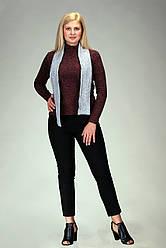 Женский шарф ангора меланж серый