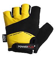 Велорукавички PowerPlay 5013 Жовті XL, фото 1