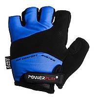 Велорукавички PowerPlay 5013 C Сині, фото 1