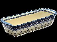 Керамическая форма для выпечки и запекания прямоугольная большая 40 х 16 Browallia, фото 1