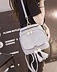 Рюкзак сумка женская с кисточкой Серый, фото 2