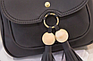 Рюкзак сумка женская с кисточкой Серый, фото 4