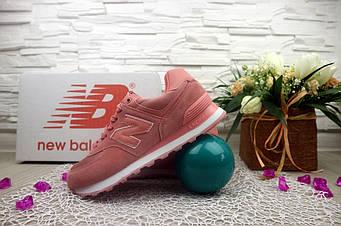 Кроссовки Classik NB574 3020-10 (New Balance) (весна-осень, женские, замш, розовый)